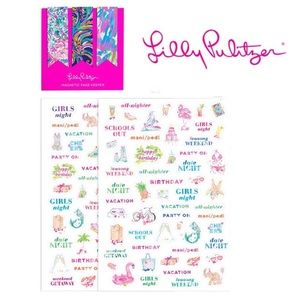 Lilly Pulitzer Stickers & 3 Magnetic Page Keepers